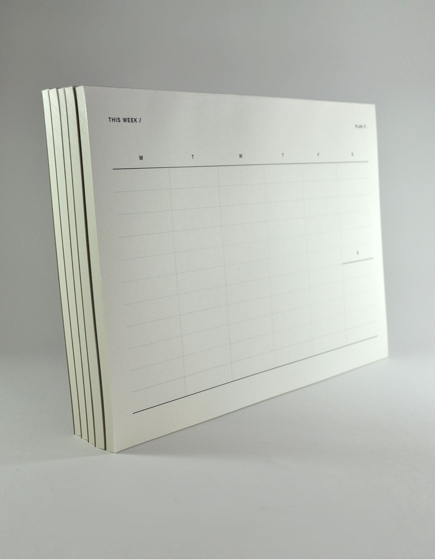 A4 Weekly Planner Notepad 52 pages of Munken Pure smooth paper • Unsheep
